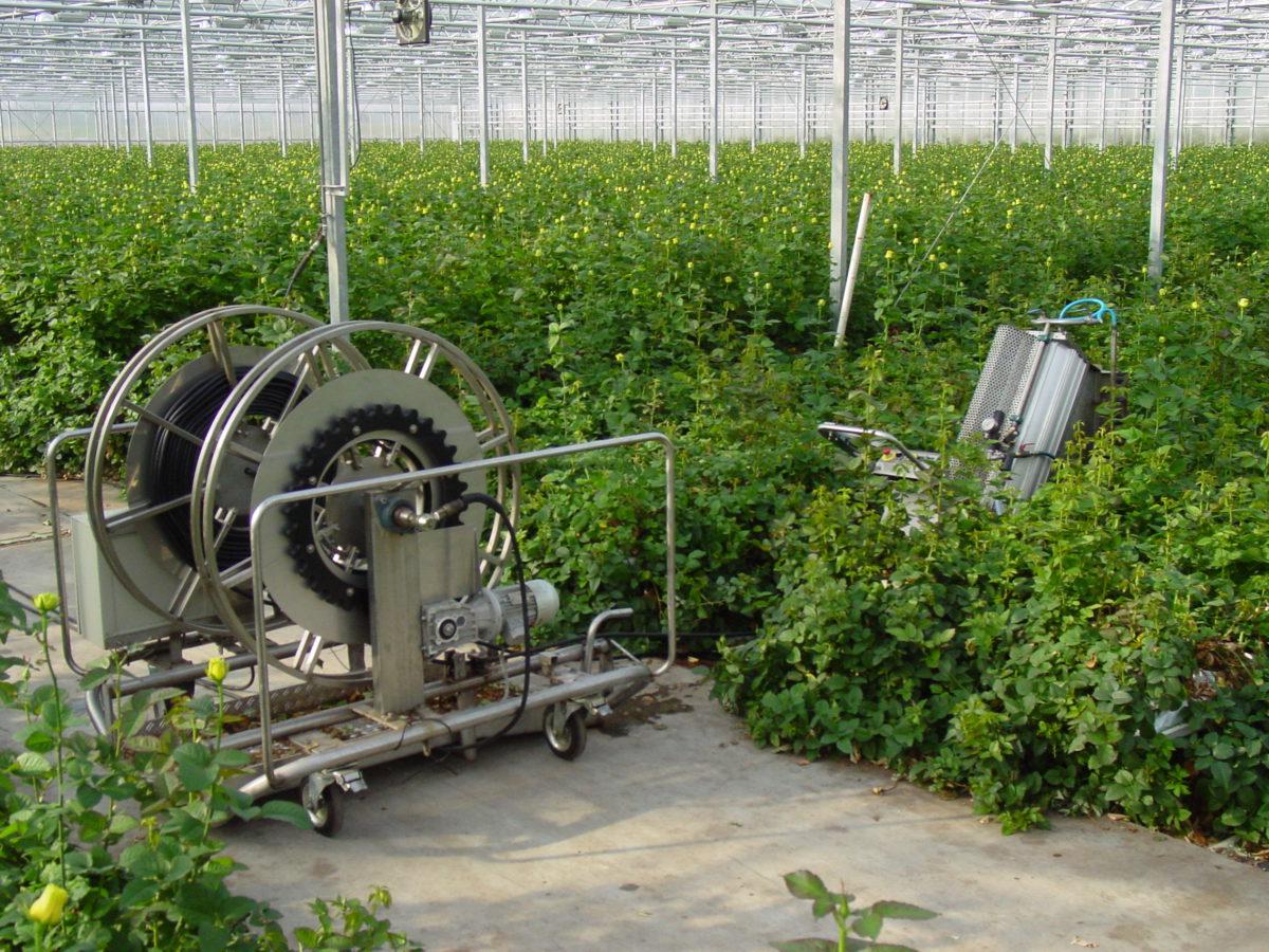 Michothon wheels spraying machines