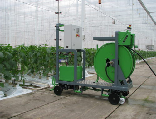 Micothon Narva battery driven tube rail spraying machine
