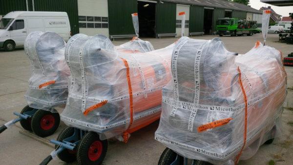 Micothon Narva Spraytanks ready for shipment