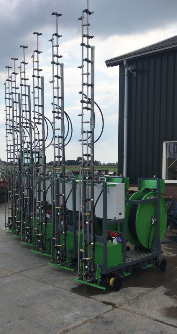 Six Micothon Narva spraying systems for one customer ready to be packed and shipped.