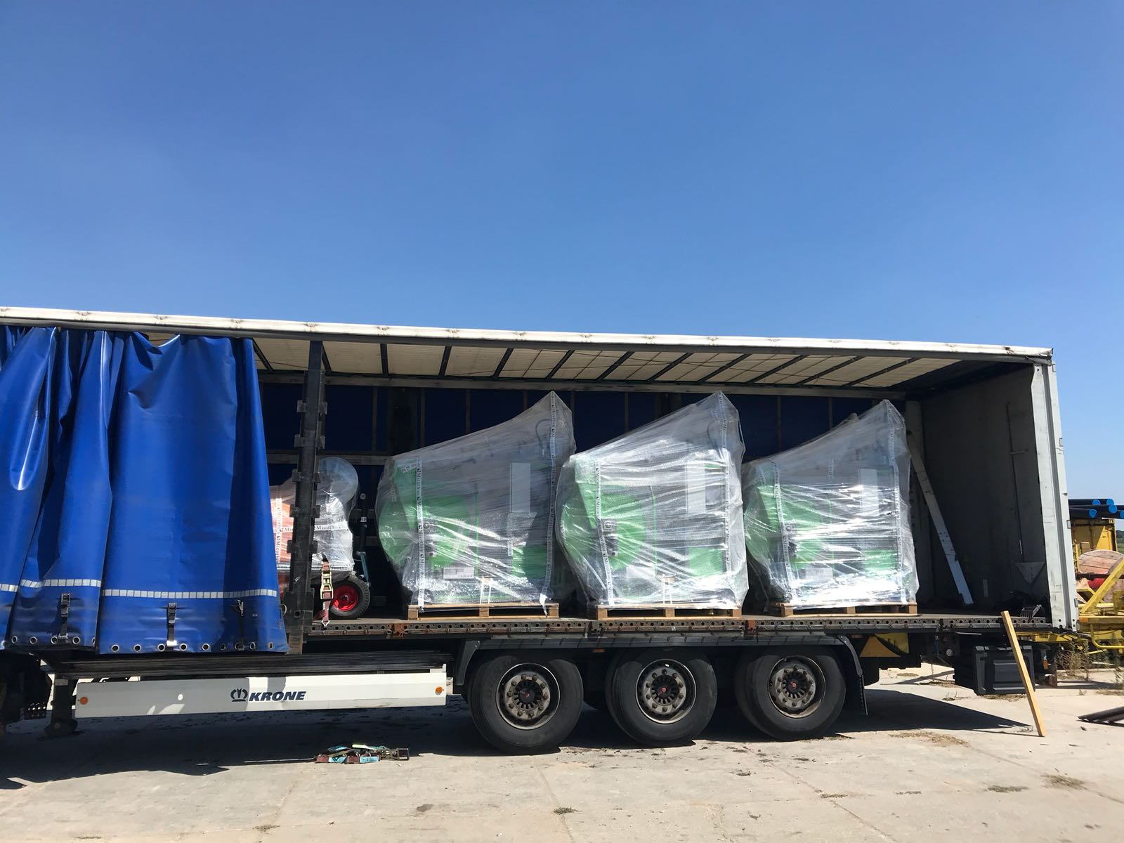 Micothon Narva loaded for transport