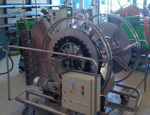 Micothon spraying machine for German Gerbera nursery.